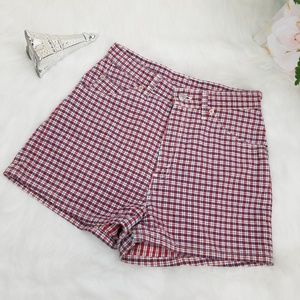 LEVIS 912 SLIM VINTAGE SHORTS PLAID HIGHT WAIST 9